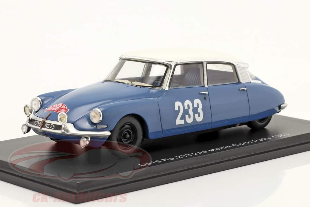 Citroen DS19 #233 2. Rallye Monte Carlo 1963 Toivonen, Järvi 1:43 Spark