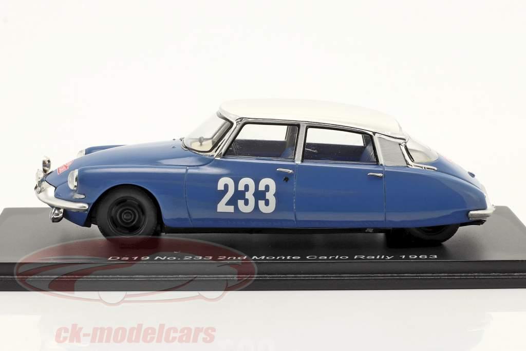 Citroen DS19 #233 2e Rallye Monte Carlo 1963 Toivonen, Järvi 1:43 Spark