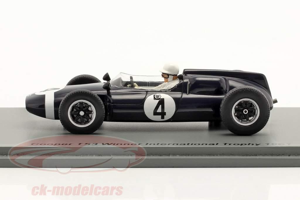 S. Moss Cooper T53 #4 ganador International Trophy Silverstone 1961 1:43 Spark