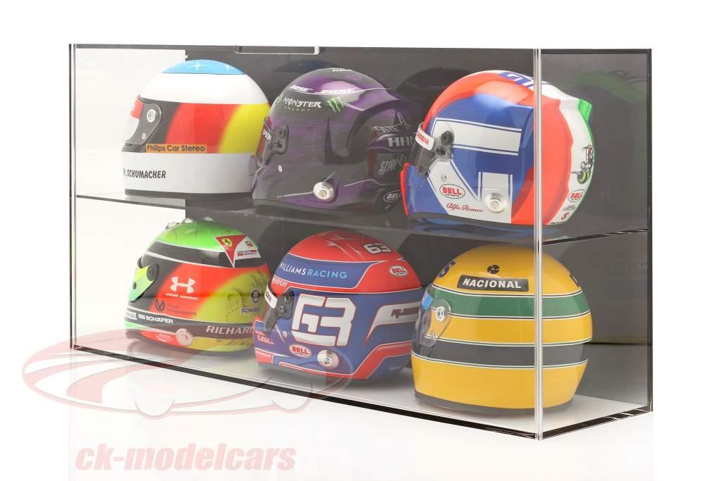 High quality Showcase for helmets 1:2 or modelcars 1:18 black SAFE