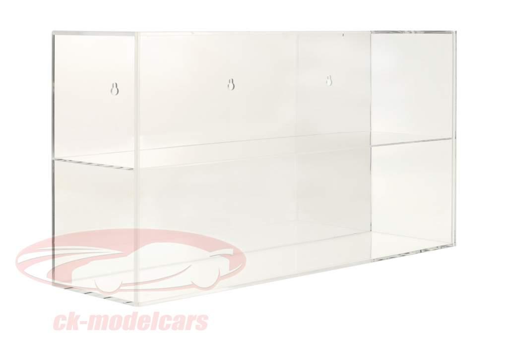 Høj kvalitet spejlet Udstillingsvindue til Hjelme 1:2 eller Modelbiler 1:18 SAFE