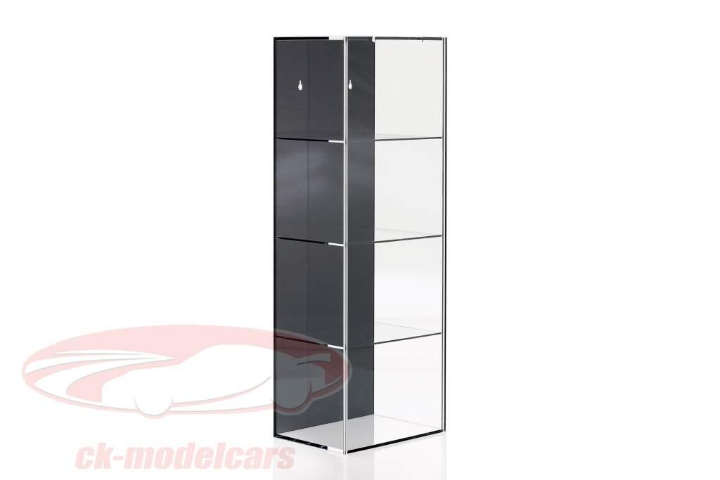 Alta calidad Escaparate con 4 compartimentos por Cascos en escala 1:2 negro SAFE