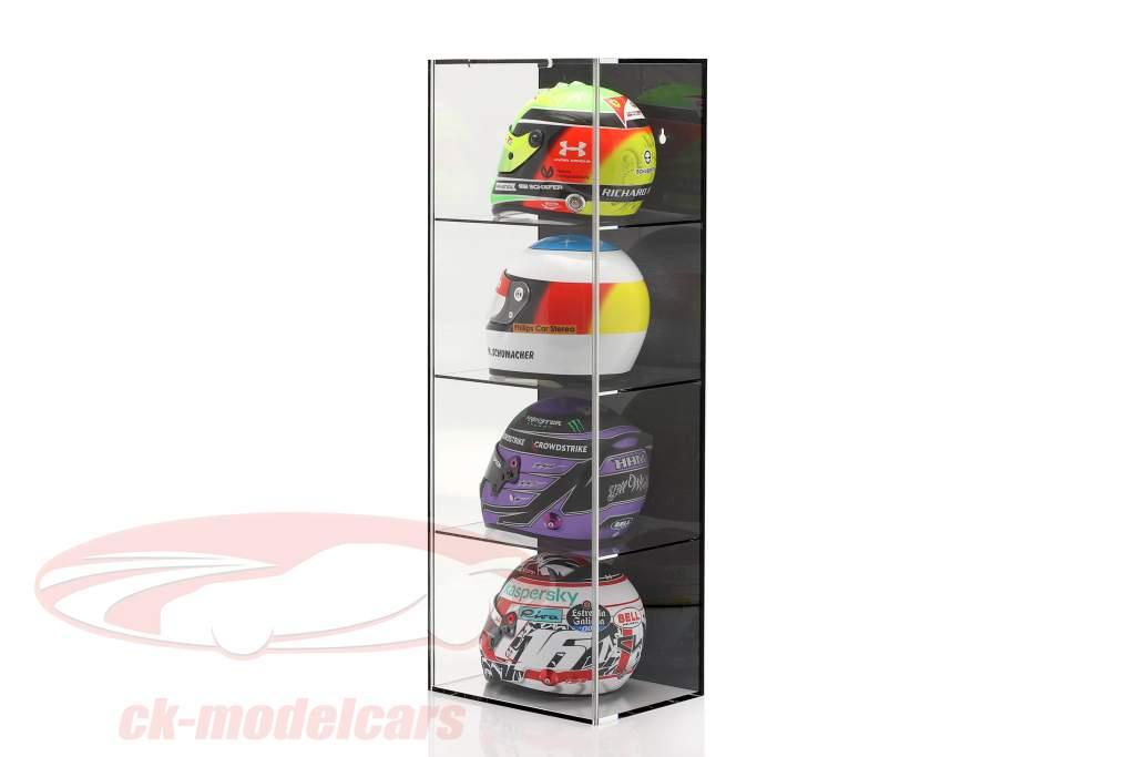 Høj kvalitet Udstillingsvindue med 4 rum til Hjelme i vægt 1:2 sort SAFE