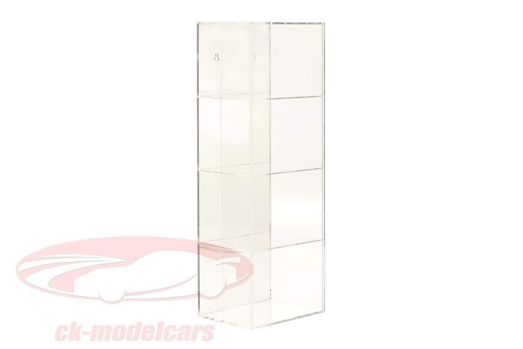 Haute qualité en miroir Vitrine avec 4 compartiments pour Casques dans escalader 1:2 SAFE