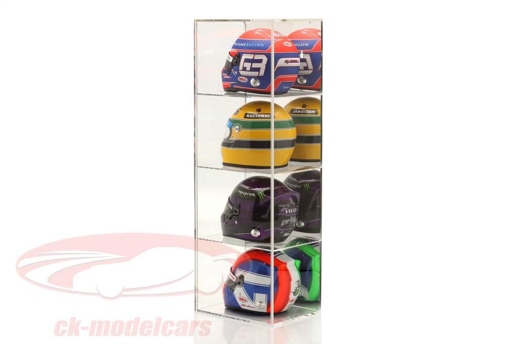 Høj kvalitet spejlet Udstillingsvindue med 4 rum til Hjelme i vægt 1:2 SAFE