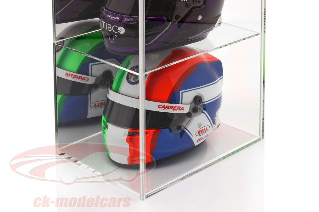 High quality mirrored Showcase with 4 compartments for helmets in scale 1:2 SAFE