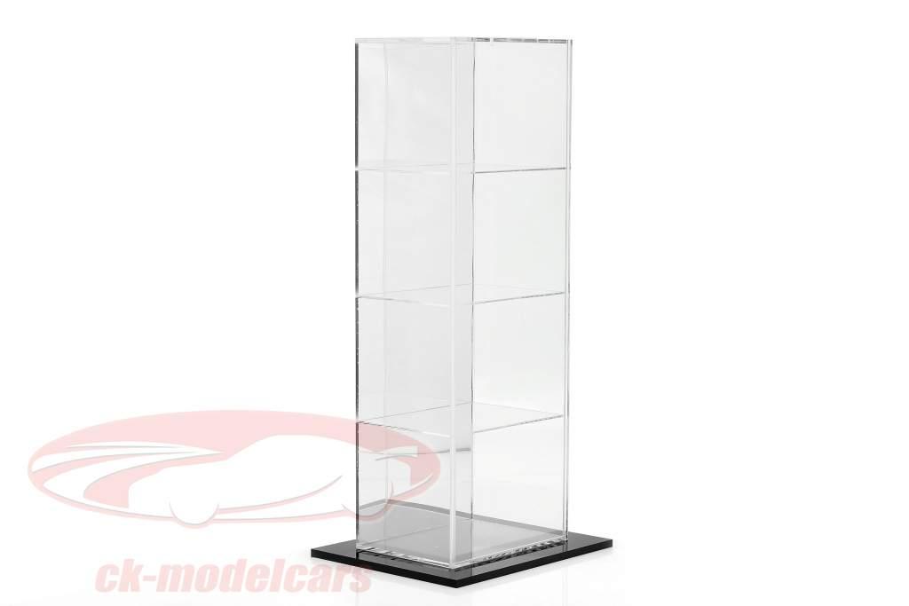 Haute qualité en miroir Stand vitrine avec 4 compartiments pour Casques dans escalader 1:2 SAFE