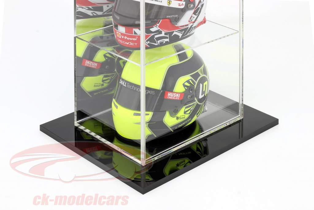 Alta calidad reflejado Stand escaparate con 4 compartimentos por Cascos en escala 1:2 SAFE