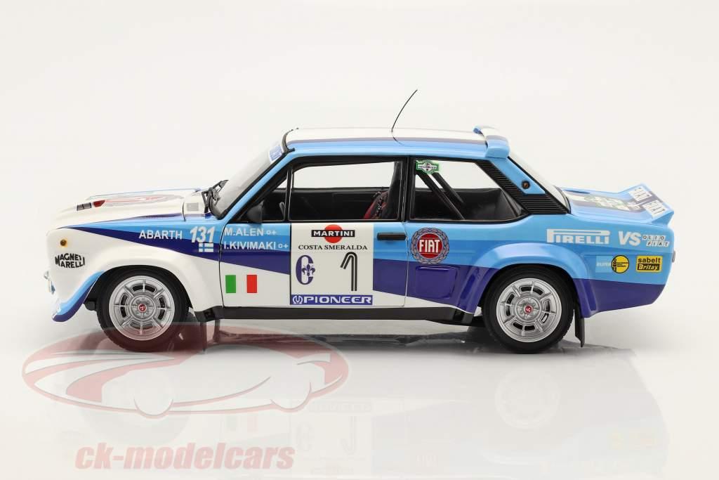 Fiat 131 Abarth #1 vinder Rallye Costa Smeralda 1981 Alen, Kivimäki 1:18 Kyosho