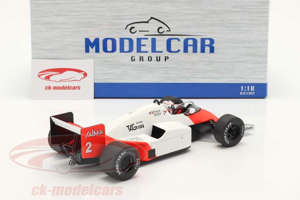 A. Prost McLaren MP4/2B #2 gagnant Monaco formule 1 Champion du monde 1985 1:18 Model Car Group