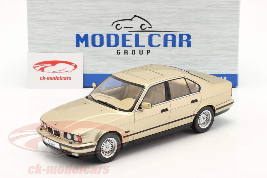 BMW 5 Series (E34) year 1992 champagne metallic 1:18 Model Car Group