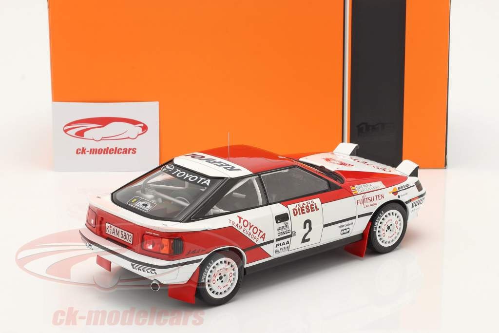 Toyota Celica GT-4 (ST165) #2 Tercero Rallye San Remo 1990 Sainz, Moya 1:18 Ixo