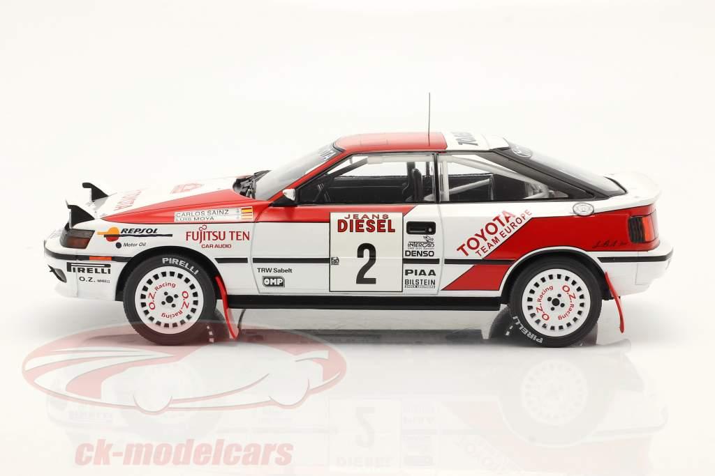 Toyota Celica GT-4 (ST165) #2 3e Rallye San Remo 1990 Sainz, Moya 1:18 Ixo