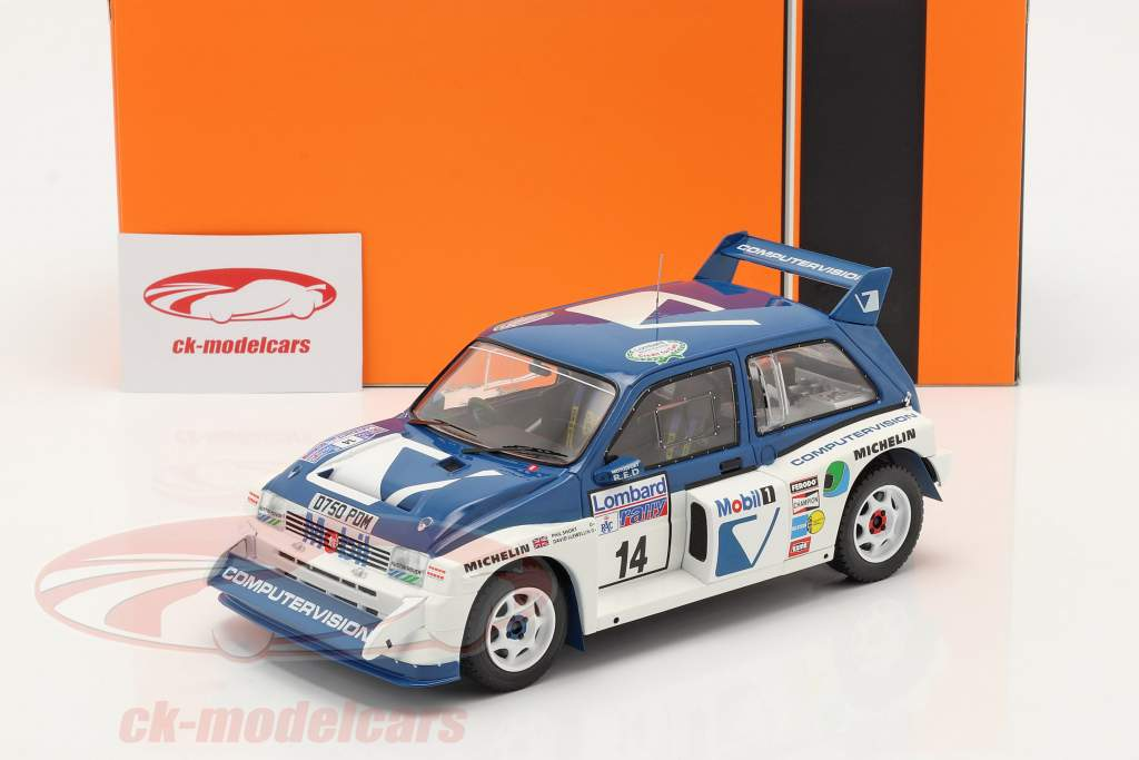 MG Metro 6R4 #14 9e Lombard RAC Rallye 1986 Llewellin, Short 1:18 Ixo
