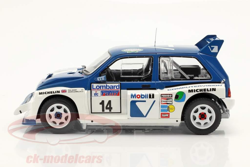 MG Metro 6R4 #14 9. Lombard RAC Rallye 1986 Llewellin, Short 1:18 Ixo