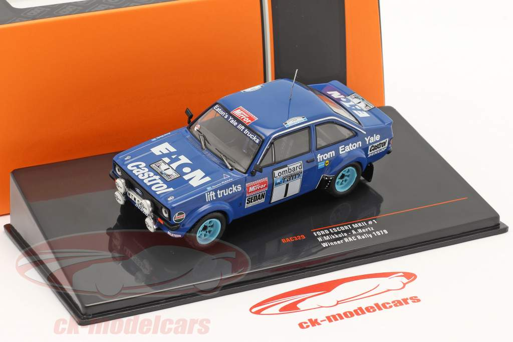 Ford Escort RS 1800 MK II #1 winner Lombard RAC Rallye 1979 Mikkola, Hertz 1:43 Ixo