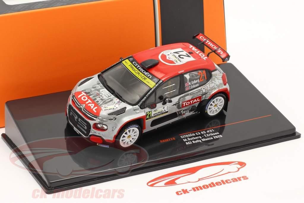 Citroen C3 R5 #21 9e Rallye Monza 2020 Östberg, Eriksen 1:43 Ixo