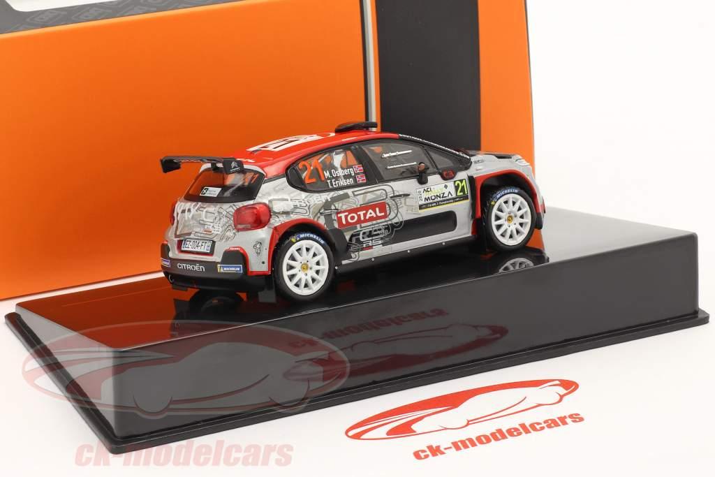 Citroen C3 R5 #21 Noveno Rallye Monza 2020 Östberg, Eriksen 1:43 Ixo