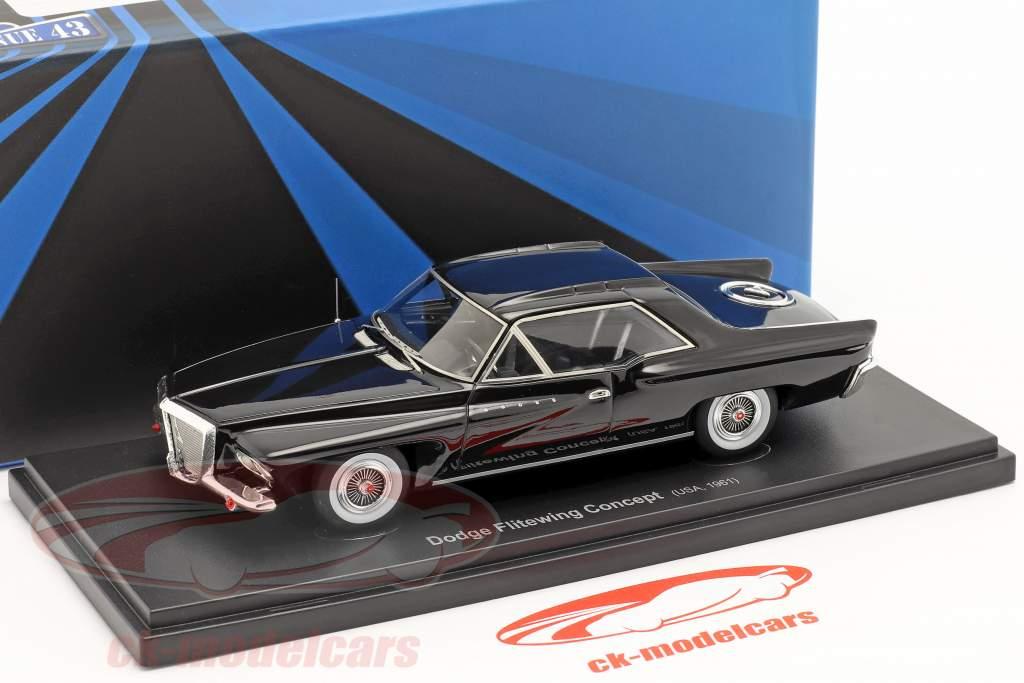 Dodge Flitewing Concept Car 1961 black 1:43 AutoCult