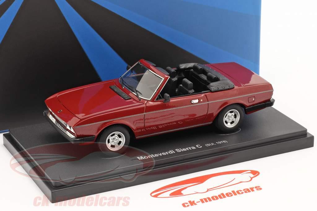 Monteverdi Sierra C Année de construction 1978 foncé rouge 1:43 AutoCult