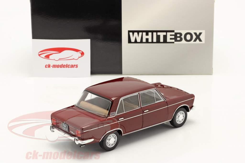 Fiat 125 Special dark red 1:24 WhiteBox