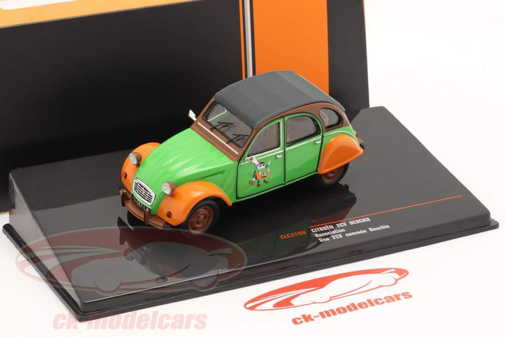 Citroen 2CV Deuchie verde / naranja / negro 1:43 Ixo
