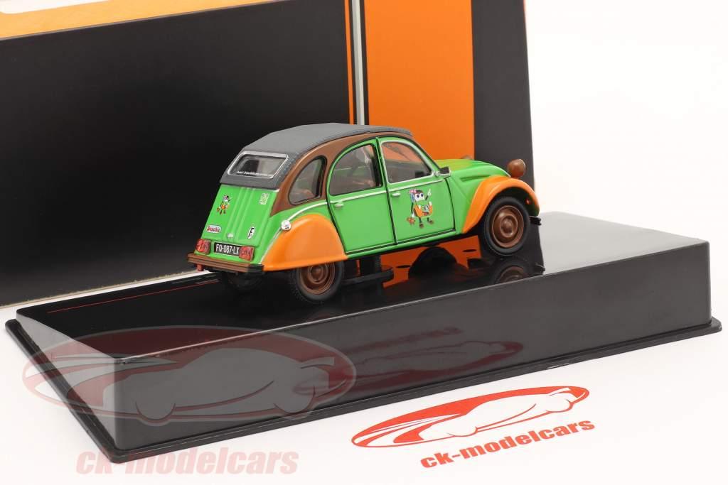 Citroen 2CV Deuchie grøn / orange / sort 1:43 Ixo