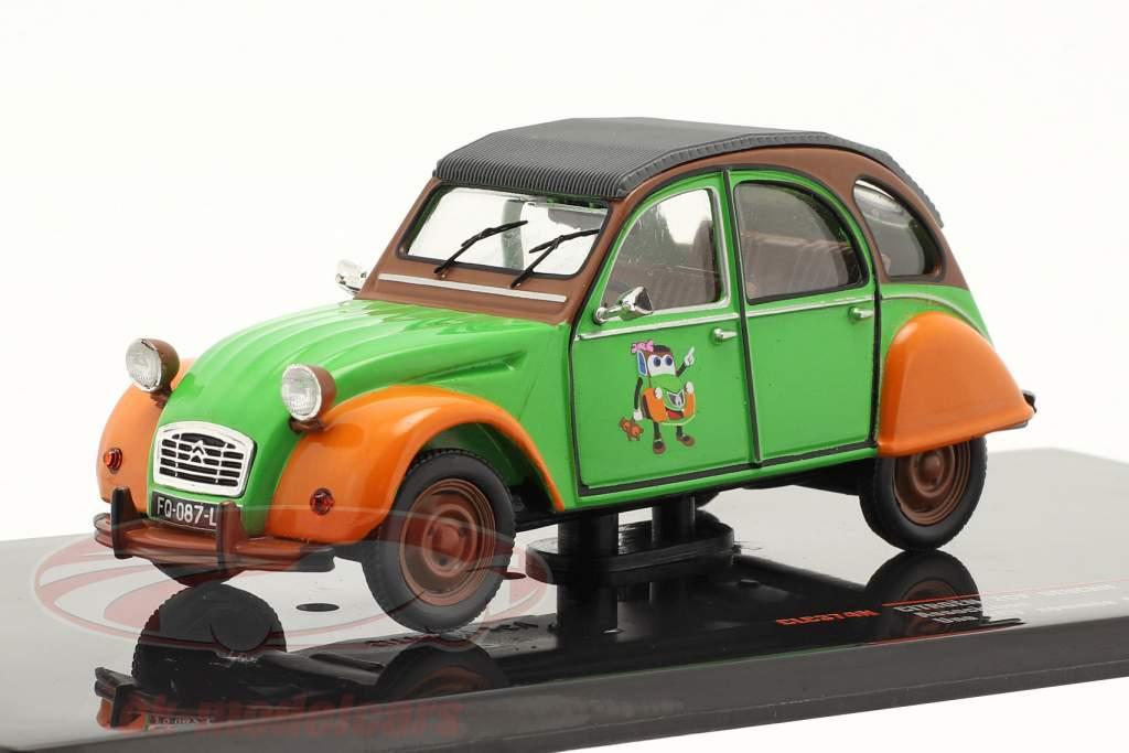 Citroen 2CV Deuchie grün / orange / schwarz 1:43 Ixo