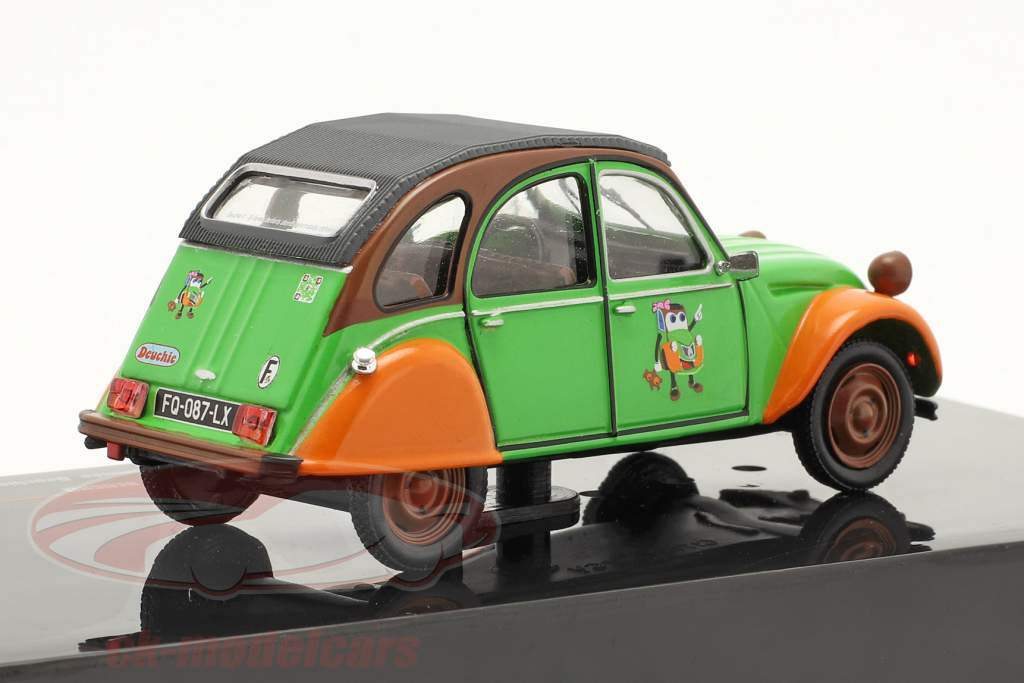 Citroen 2CV Deuchie vert / Orange / le noir 1:43 Ixo