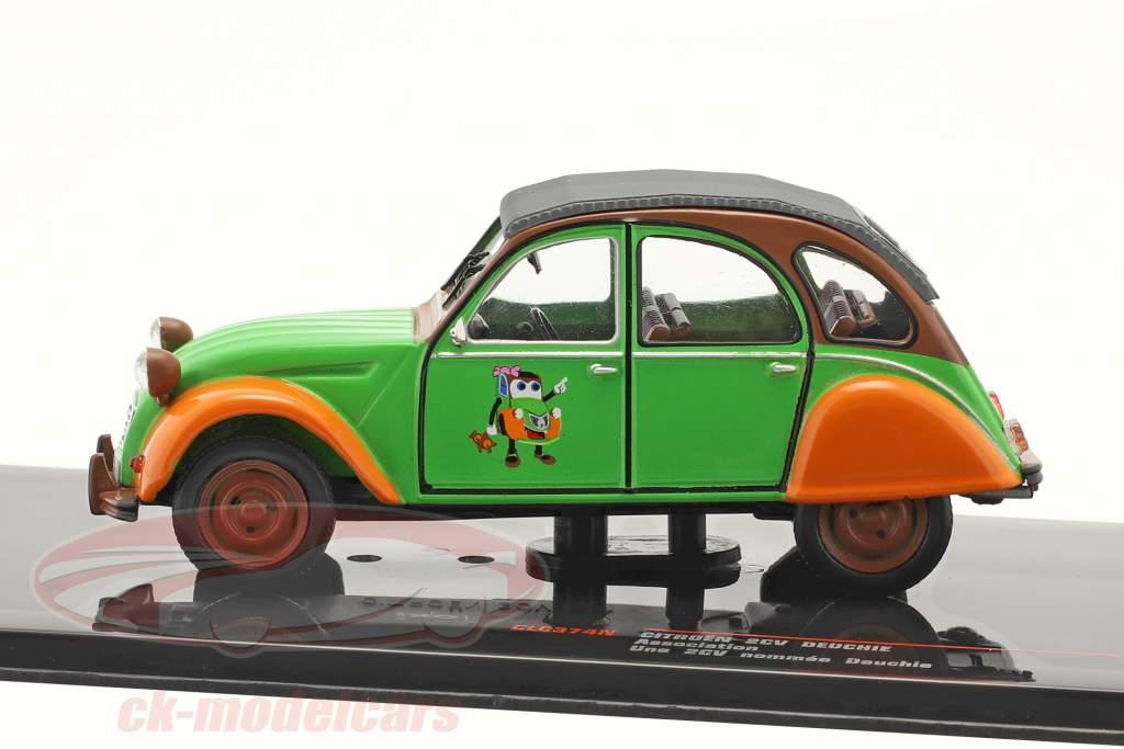 Citroen 2CV Deuchie green / orange / black 1:43 Ixo