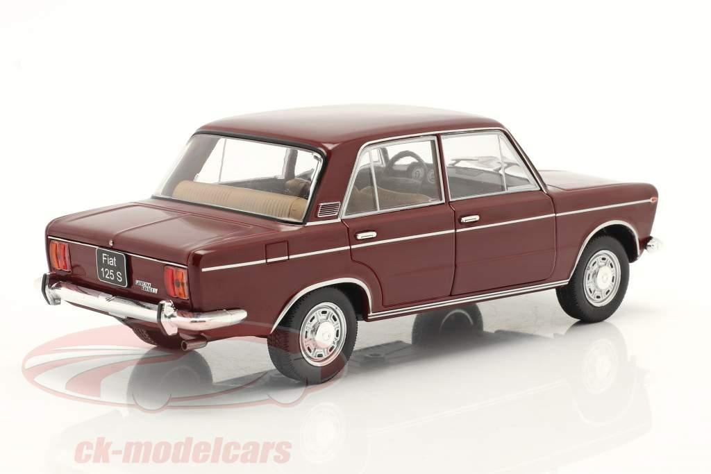 Fiat 125 Special oscuro rojo 1:24 WhiteBox