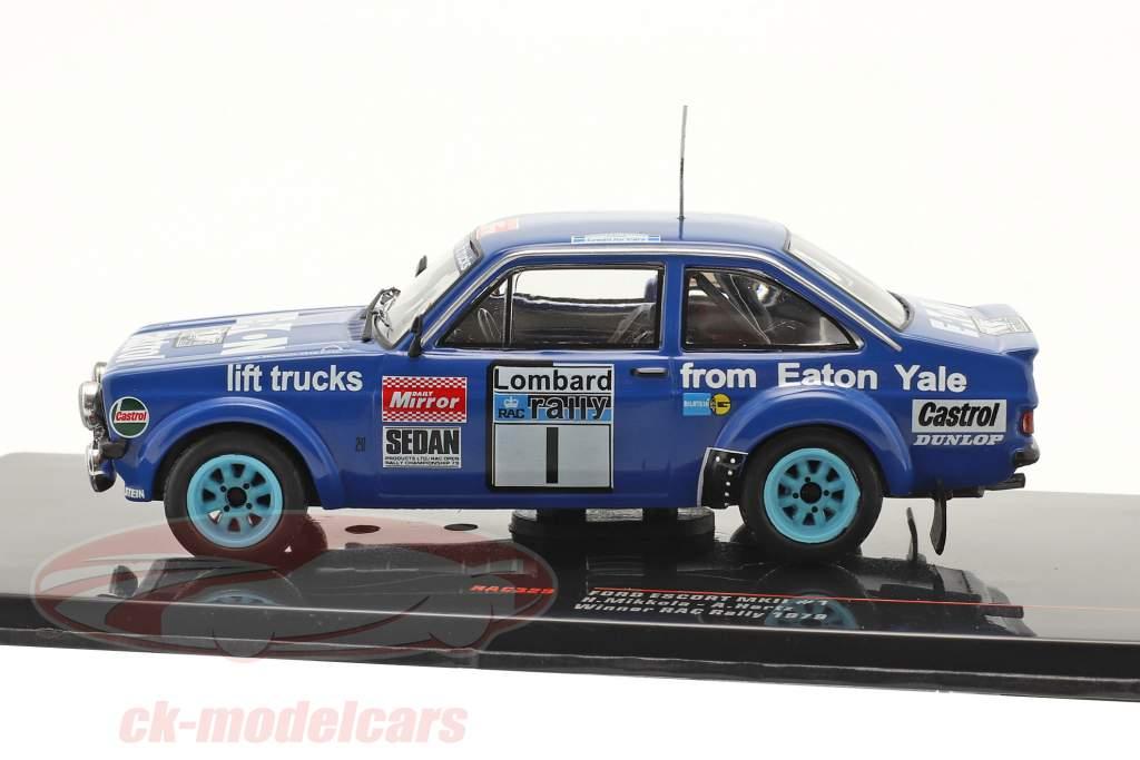 Ford Escort RS 1800 MK II #1 vinder Lombard RAC Rallye 1979 Mikkola, Hertz 1:43 Ixo