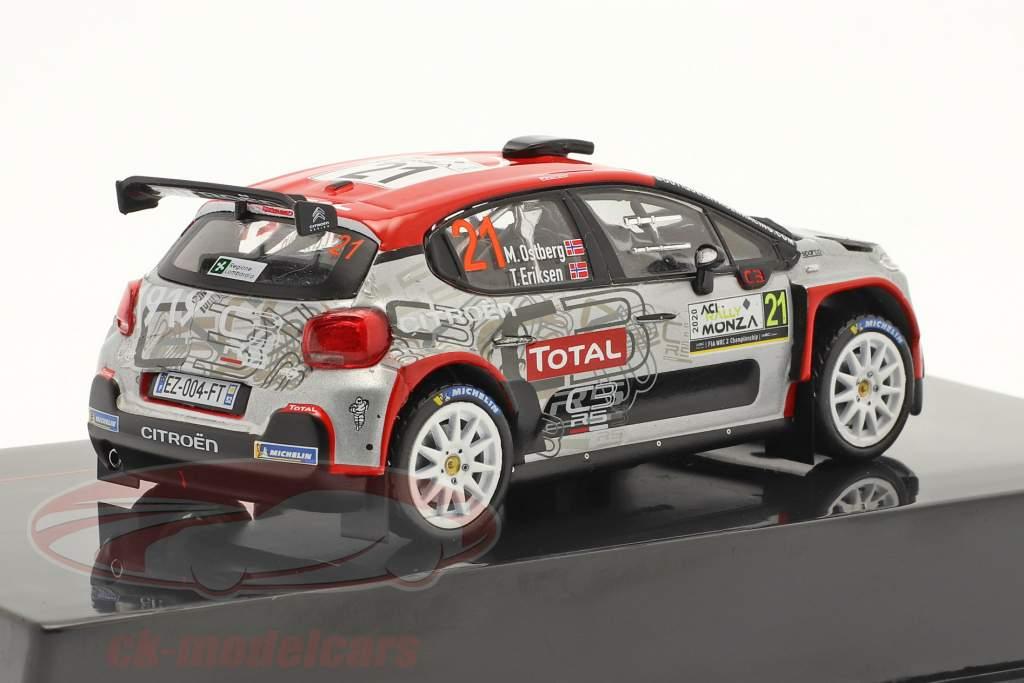 Citroen C3 R5 #21 9. Rallye Monza 2020 Östberg, Eriksen 1:43 Ixo
