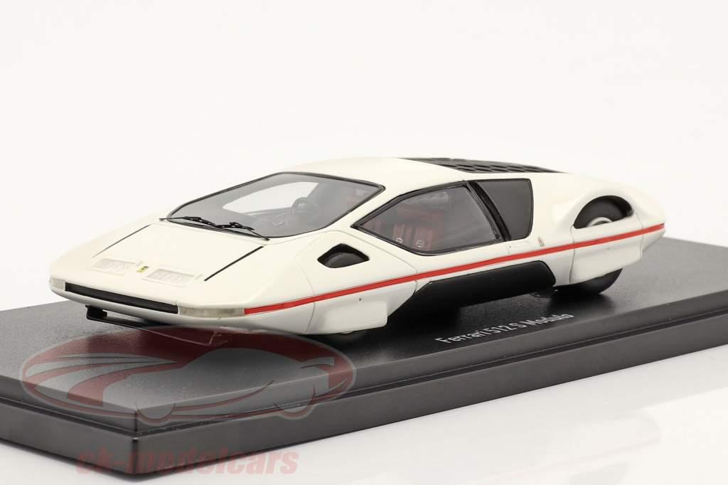Ferrari 512 S Modulo par Pininfarina Genève Salle d'exposition pour voitures 1970 blanche 1:43 AutoCult