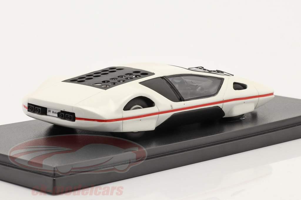 Ferrari 512 S Modulo por Pininfarina Ginebra Exposicion de coches 1970 blanco 1:43 AutoCult