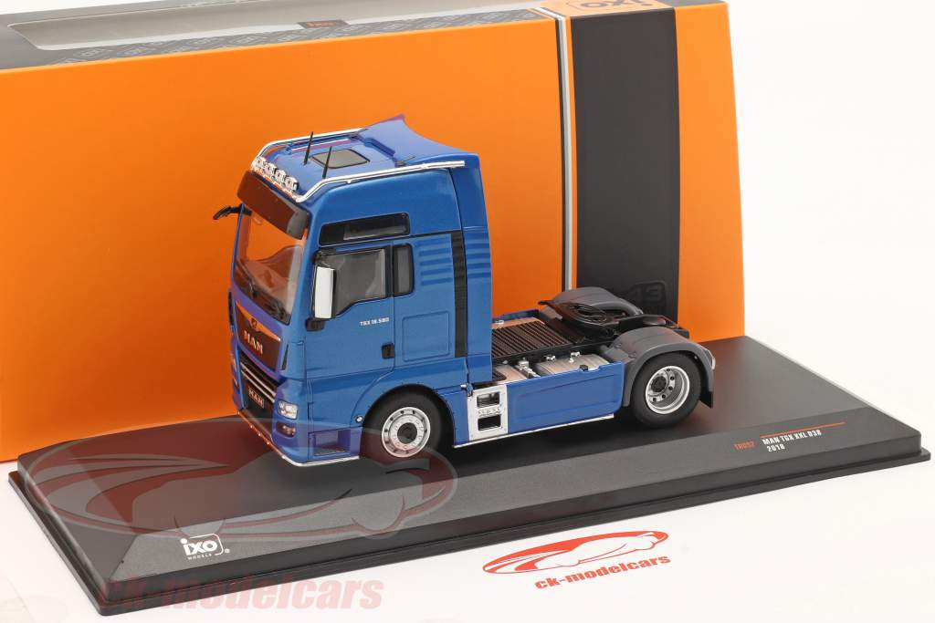 MAN TGX XXL D38 Truck year 2018 blue 1:43 Ixo