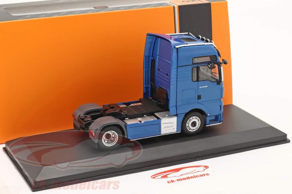 MAN TGX XXL D38 Camión Año de construcción 2018 azul 1:43 Ixo