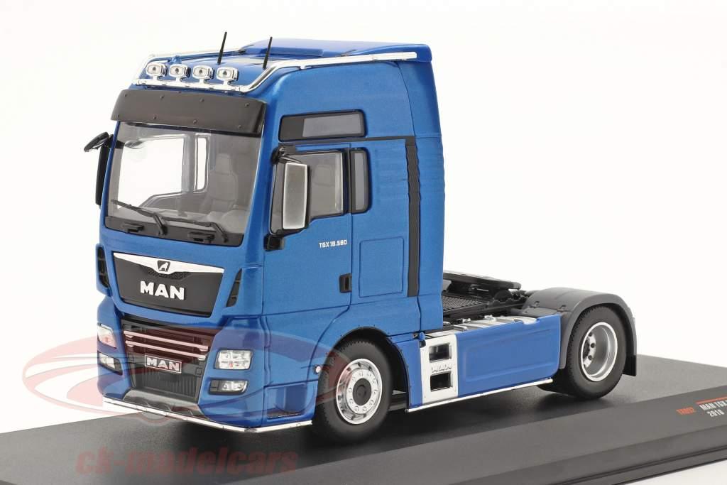 MAN TGX XXL D38 Camion Année de construction 2018 bleu 1:43 Ixo