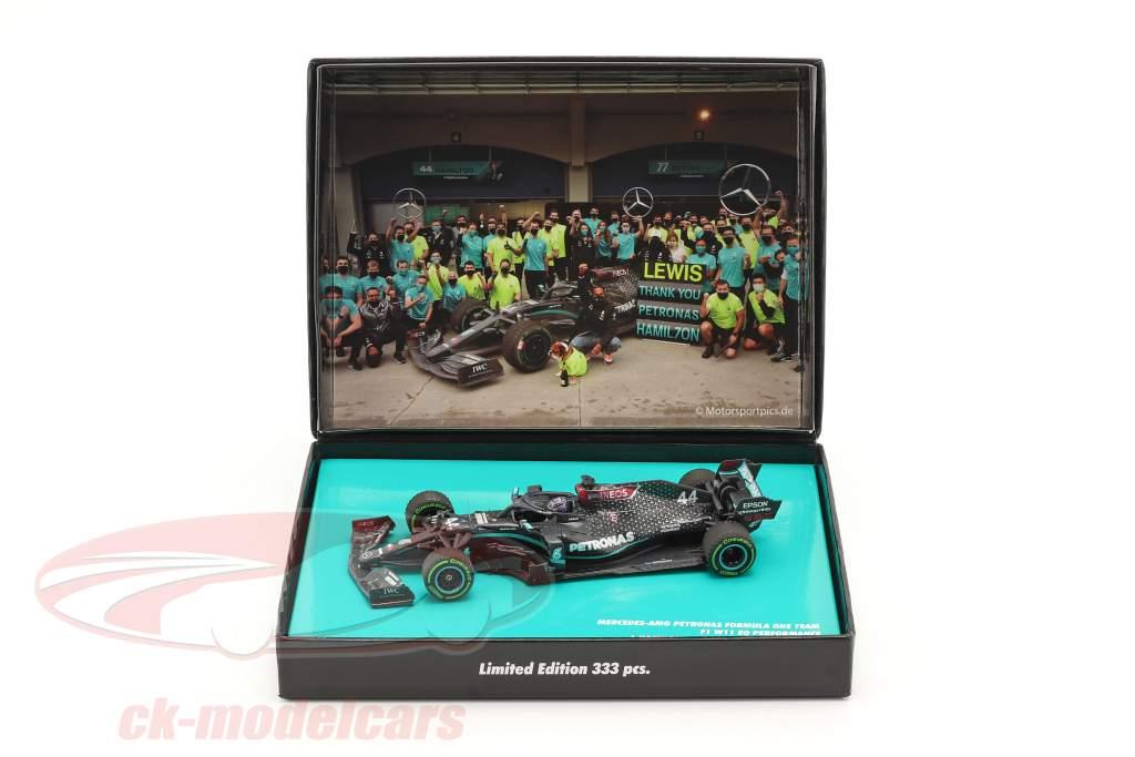 L. Hamilton Mercedes-AMG F1 W11 #44 winner Turkish GP formula 1 World Champion 2020 1:43 Minichamps