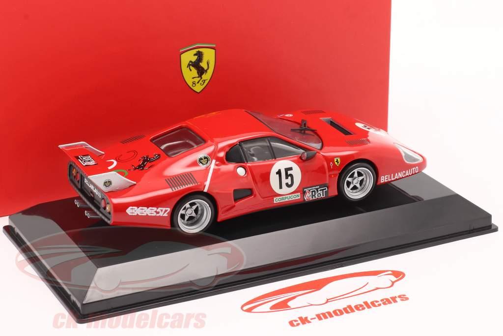 Ferrari 512 BB #15 ganador Clase GTX 1000km Monza 1981 1:43 Bburago