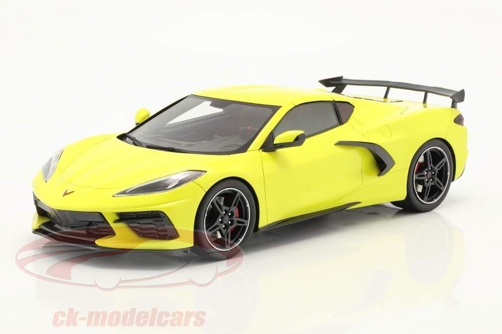 Chevrolet Corvette C8 Stingray Año de construcción 2020 accelerate amarillo metálico 1:18 TrueScale