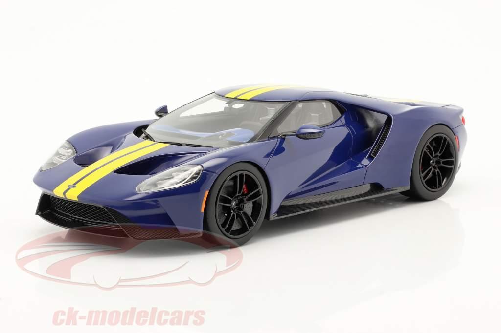 Ford GT Sunoco blå / gul 1:18 TrueScale