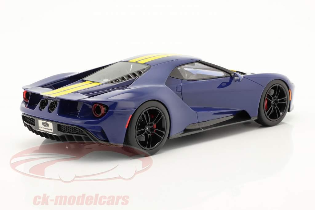 Ford GT Sunoco blau / gelb 1:18 TrueScale