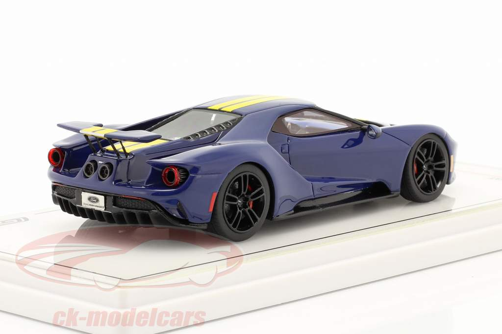 Ford GT Sunoco blå / gul 1:43 TrueScale