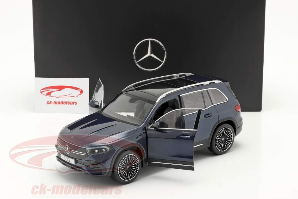 Mercedes-Benz EQB Année de construction 2021 Un jean bleu 1:18 NZG