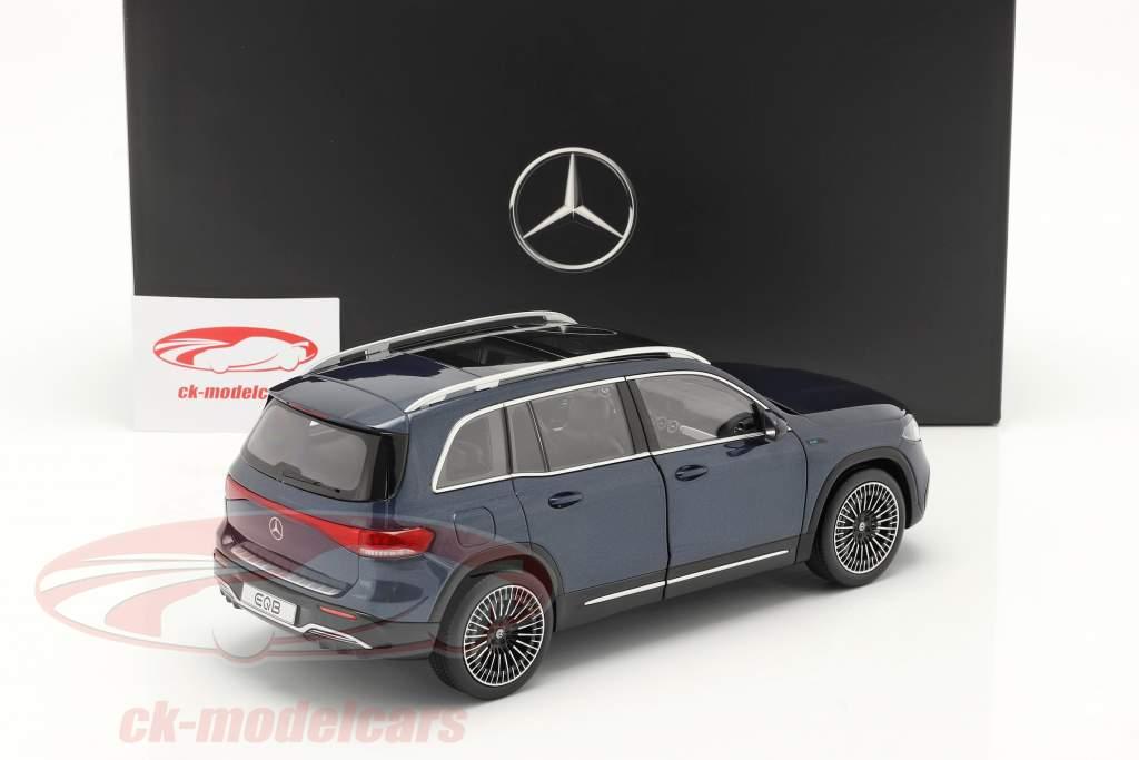 Mercedes-Benz EQB year 2021 denim blue 1:18 NZG