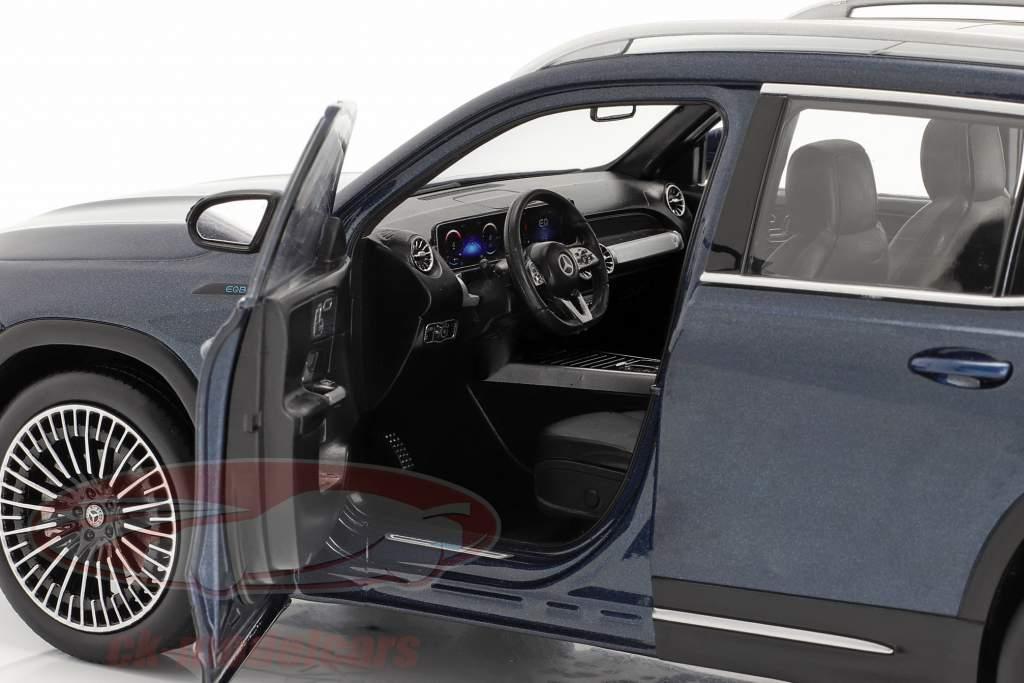 Mercedes-Benz EQB Año de construcción 2021 azul vaquero 1:18 NZG