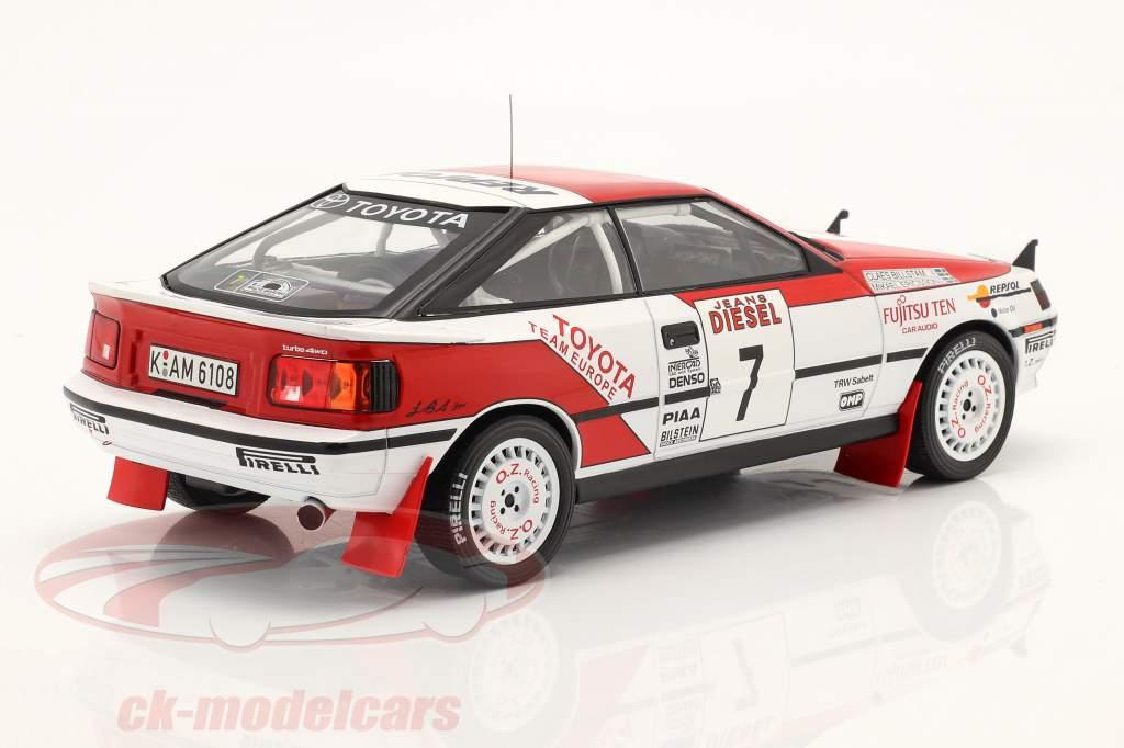 Toyota Celica GT-4 #7 Sexto Rallye San Remo 1990 Ericsson, Billstam 1:18 Ixo