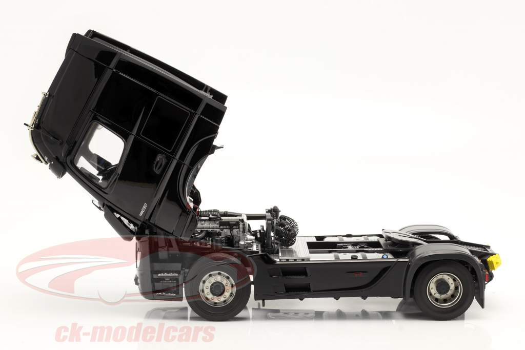 Mercedes-Benz Actros Gigaspace 4x2 SZM negro sin Mercedes diseño 1:18 NZG