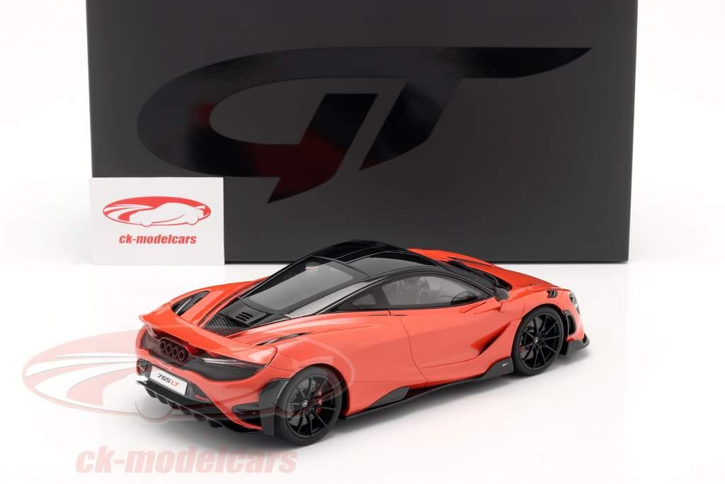 McLaren 765LT Année de construction 2020 Orange métallique 1:18 GT-SPIRIT
